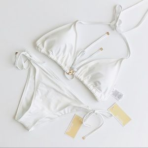 Michael Kors Cruise 2019 White Bikini Set - LARGE